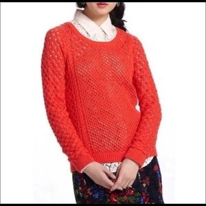 Moth Anthropologie Open Knit Sweater Size Large